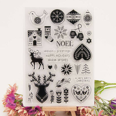Christmas Transparent Clear Silicone Stamps for DIY Scrapbooking/Card Making·