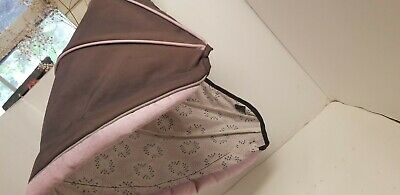 Graco Snugride Click Connect 30 Canopy Hood Visor Shade Replacement Pink Brown.