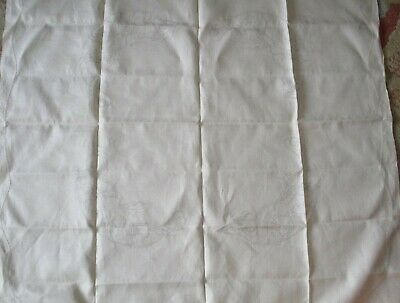 Vintage Fautley #194 Linen Supper Cloth With Poppies To Embroider