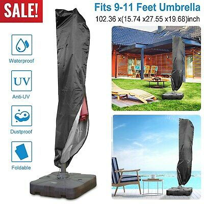 Strong Large 3M Parasol Cover Banana Cantilever Waterproof Parasol Cover H230cm