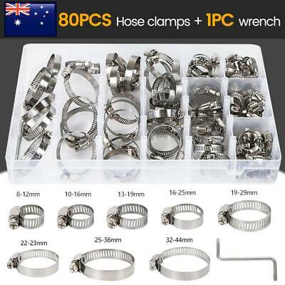 1 BoxCambridge SAE Size 8 Stainless Steel Hose Clamps 10 pcs//Box Standard