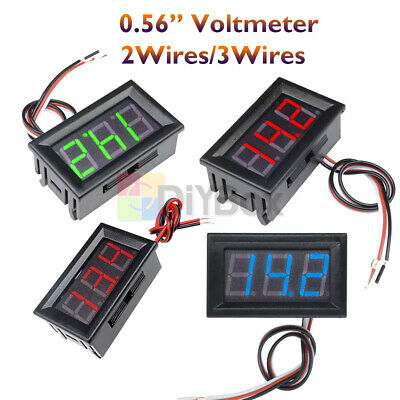 "0.56"" 2/3Wires Digital LED Voltmeter DC 5V-30V/120V AC 70V-500V Volt Panel Meter"