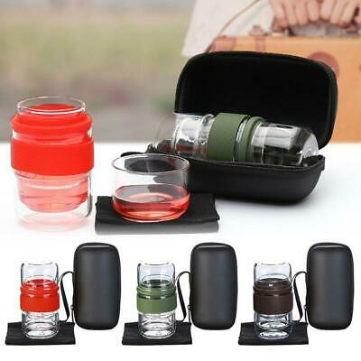 Travel Set Kung Fu Pot with Glass Serving Cup and Infuser Travel Bag in T3G3