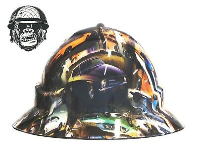 Custom Hydrographic Wide Brim Safety Hard Hat CLASSIC HOLDENS WIDE