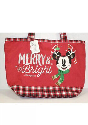 Disney Parks 2018 Merry & Bright Holiday Christmas Tote Bag - NEW!!!