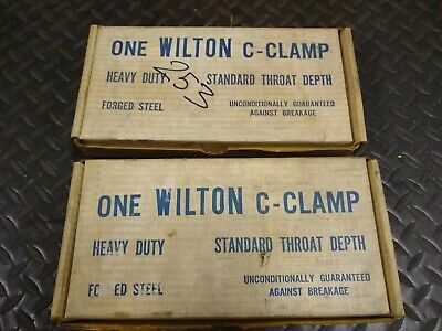 """Vintage Wilton 104 Extra Heavy Duty Drop Forged 4"""" C-Clamp NEW IN BOX -FREE SHIP"""