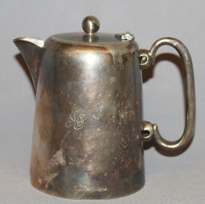 Vintage European Epns Silver Plated Milk Cream  Pitcher Jug