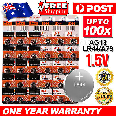 Up to 100x Maxell LR44 0%Hg Battery A76/AG13 Button Cell Batteries EXP2022 NEW