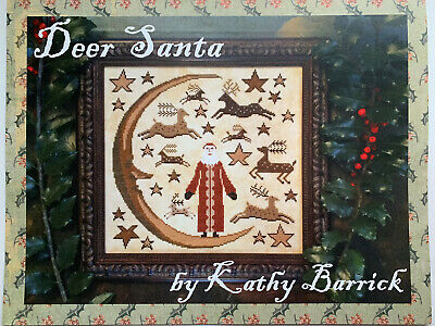 Kathy Barrick - Deer Santa -- Cross Stitch Pattern/Chart