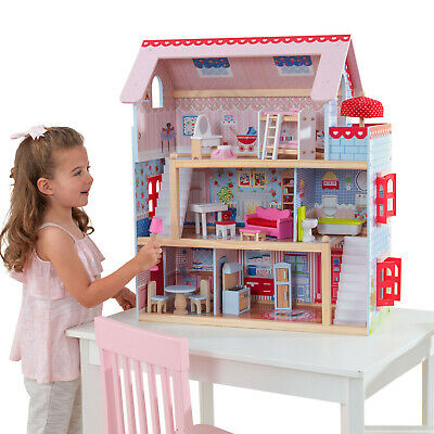 KidKraft Dollhouses Chelsea Doll Cottage with Furniture Doll Houses Miniatures