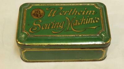 wertheim sewing machine tin with spare feet edgers etc