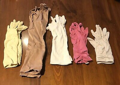 5 Pairs Vintage Womens Gloves