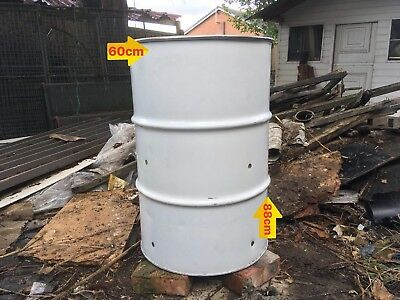 Burning bin wood burner 205 Ltr Garden Leaves waste incinerator site winter