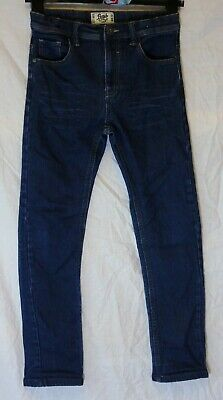 Boys Matalan Dark Indigo Blue Whiskered Denim Stretch Slim Jeans Age 12 Years