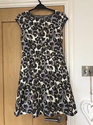Next Girls Leopard Print Party Dress 12 Years