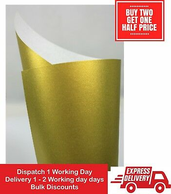 Single Sided Metallic Gold Leaf Paper Various sizes and Paper Packs