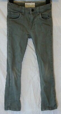 Boys Matalan Mid Grey Denim Adjustable Waist Skinny Leg Jeans Age 7 Years