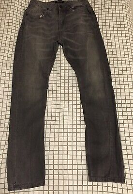 Boys River Island Jeans Trousers Age 12 Years Washed Black Denim Look