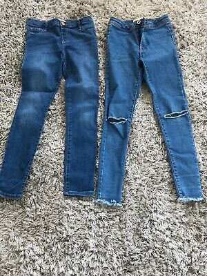 Two Pairs Girls Jeans Age 9 Years Zara And River Island Great Condition