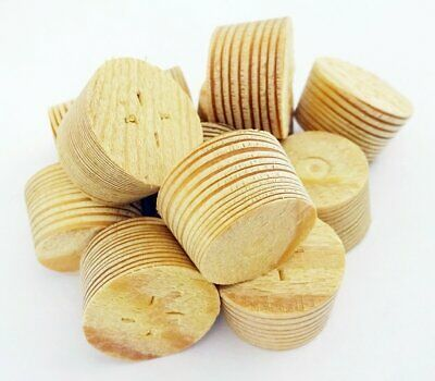17mm Larch Tapered Wooden Plugs 100pcs