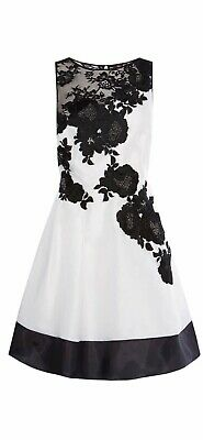 Coast dress Size 16 Brand new with tags. White with black detail.