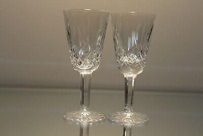 """Two (2) Waterford Crystal Lismore Sherry Cordial Glass 5 1/8"""" Ireland Mint"""