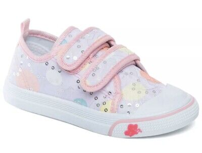 Infant Chatterbox Sequin Canvas Low Top Slip On Pumps/Trainers size 8 Pink