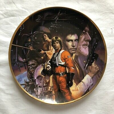 Star Wars Hamilton Collection Plate Boxed With Authentication
