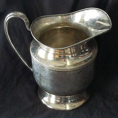 Antique E.G. Webster & Son Silver Plated Water Pitcher Beverage 1886 - 1928 Jug