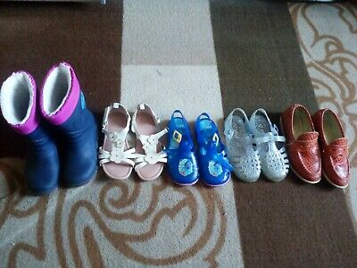 Bundle Of Girls Shoes, Wellies, Sandals Size 10, 11 Good Condition