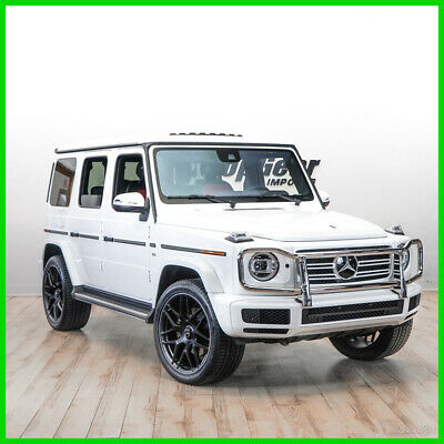 """2019 Mercedes-Benz G-Class G 550 (A9) 2019 MERCEDES G550 WHITE WITH DESIGNO RED LEATHER 22"""" WHEELS"""