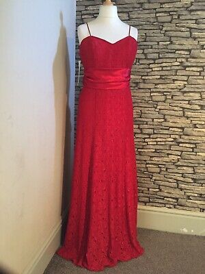 Ladies Evening/Cruise Wear. Red Long Dress Size 16 Bnwt Ex Shop Stock