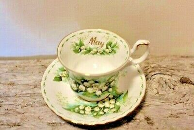 Royal Albert - May - Flower Of The Month Series Teacup & Saucer - 1970