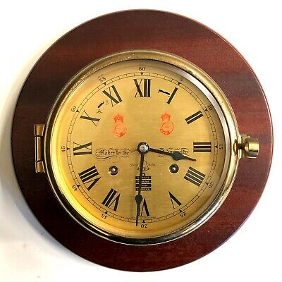 Stunning Vintage Sewills Of Liverpool Chiming Ships Clock Chime Silent