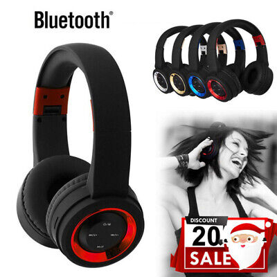 Wireless Headphones Bluetooth  Gaming Headset Noise Cancelling Over Ear W/ Mic