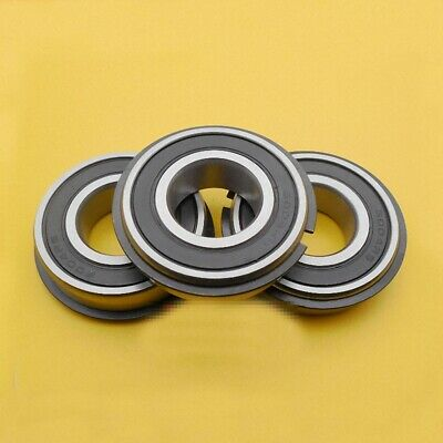 3pcs 6301-2RS NR Ball Bearing With Locating Snap Ring 12 x 37 x12mm Guality good