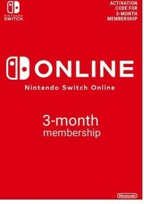 Nintendo Switch Online Individual Membership 3 Months europe only