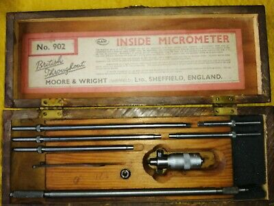 """Moore & Wright No. 902 2-8"""" Inside Micrometer Set"""