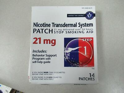 Nicotine Step 1 Transdermal System 21 MG 14 Patches expires 12/19 earliest