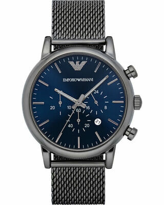 New Emporio Armani Ar1979 Luigi Mens Mesh Chronograph Watch - 2 Years Warranty