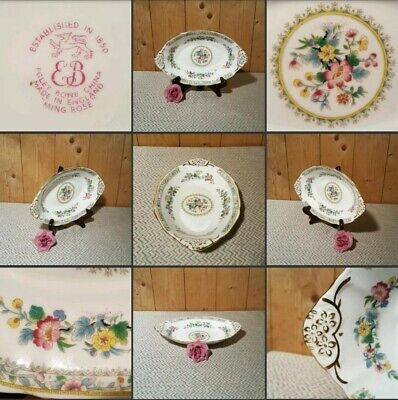 *Used* Lovely Vintage China Oval Plate ♡EB FOLEY♡ Saucer~Floral~Rose Mix Pattern