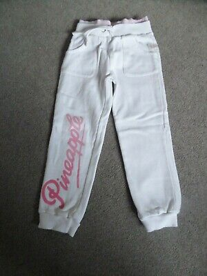 White Pineapple Girls Joggers - 4-5yrs