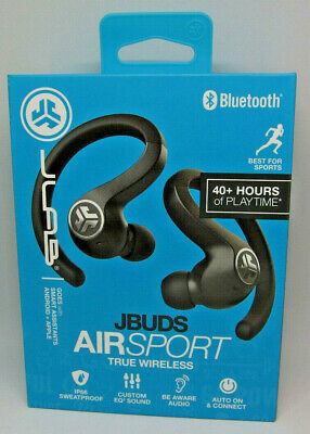 JLab Audio - JBuds Air Sport True Wireless In-Ear Headphones - Black