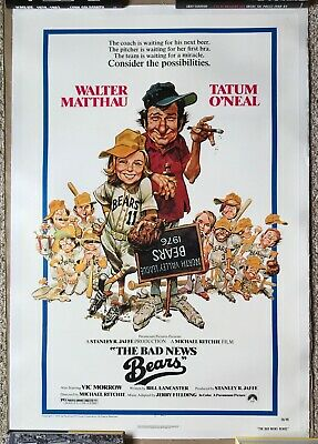 The Bad News Bears 1976 Original Movie Poster Linen-Backed