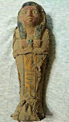 Ancient Egyptian very rare Shabti with Coptic Clothes