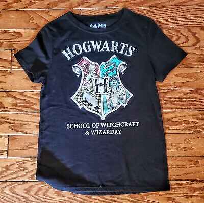 HARRY POTTER HOGWARTS SCHOOL OF WITCHCRAFT & WIZARDRY T-SHIRT Unisex Small