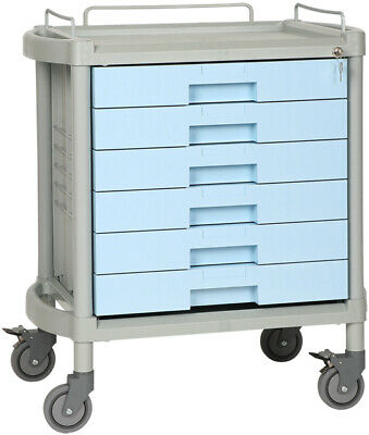 Durable Plastic Trolley with six integral drawers