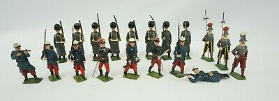 Lot Of 19 Metal Toy Soldiers Britains England British, France