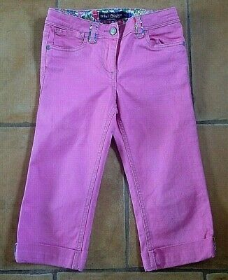 Mini Boden !! Age 8 Years ! Lovely Pink Capri / Cropped Trousers !