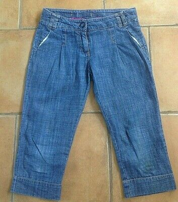 Next !! Age 10 Years ! Lovely Denim Cotton Cropped Trousers ! Vgc